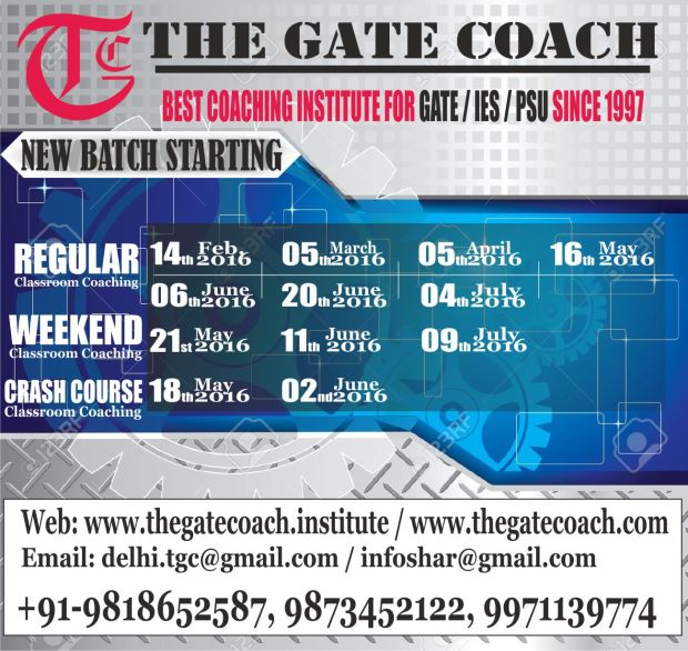 GATE 2017 Admission open